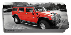 Red Hummer H2 Series  Portable Battery Charger