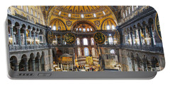 Hagia Sofia Interior 35 Portable Battery Charger by Antony McAulay
