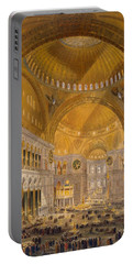 Hagia Sophia, Constantinople, 1852 Portable Battery Charger
