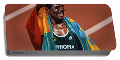 Haile Gebrselassie Portable Battery Charger by Paul Meijering