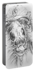 Hair-ied Horse Soilder Portable Battery Charger by Scott and Dixie Wiley
