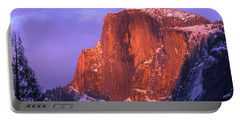 Half Dome Alpen Glow Portable Battery Charger by Jim And Emily Bush