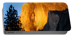 Half Dome Yosemite At Sunset Portable Battery Charger
