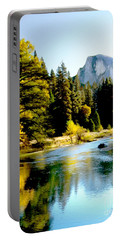 Half Dome Yosemite River Valley Portable Battery Charger