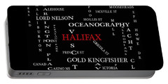 Halifax Nova Scotia Landmarks And Streets Portable Battery Charger