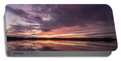 Halifax River Sunset Portable Battery Charger by Paul Rebmann