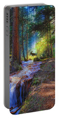 Hall Valley Moose Portable Battery Charger by J Griff Griffin