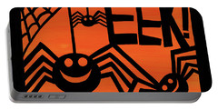 Halloween Silhouette Iv Portable Battery Charger by Anne Tavoletti