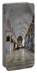 Portable Battery Charger featuring the photograph Hallway Of A Church Munich Germany by Imran Ahmed
