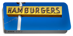 Hamburgers Old Neon Sign Portable Battery Charger