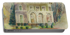 Portable Battery Charger featuring the painting Hamden House by Lynn Buettner