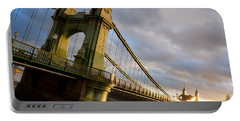 Hammersmith Bridge In London Portable Battery Charger