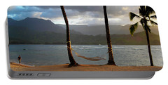 Hammock At Hanalei Bay Portable Battery Charger by James Eddy