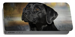 Handsome Black Lab Portable Battery Charger