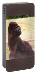 Portable Battery Charger featuring the photograph Handsome Gorilla by Belinda Lee