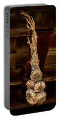 Hanging Garlic Portable Battery Charger by Gary Slawsky