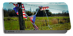 Hanging On - The American Spirit By William Patrick And Sharon Cummings Portable Battery Charger