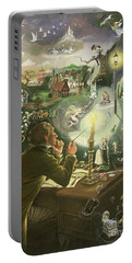Hans Christian Andersen Portable Battery Charger by Anne Grahame Johnstone