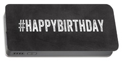 Happy Birthday Card- Greeting Card Portable Battery Charger by Linda Woods
