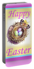 Happy Easter Happy Nest Portable Battery Charger by Irina Sztukowski