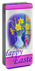 Happy Easter Portable Battery Charger by Irina Sztukowski