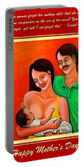 Happy Family Portable Battery Charger by Cyril Maza