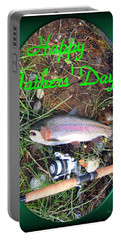 Happy Father's Day Portable Battery Charger by Joyce Dickens
