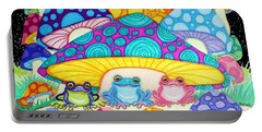 Happy Frogs In The Starlight  Portable Battery Charger