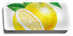 Happy Grapefruit- Irina Sztukowski Portable Battery Charger
