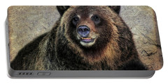 Happy Grizzly Bear Portable Battery Charger