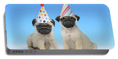 Happy Pug Birthday Portable Battery Charger