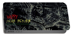 Portable Battery Charger featuring the digital art Happy Solar Return 470 by Cleaster Cotton