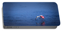 Happy Spoonbill Portable Battery Charger by Marvin Spates
