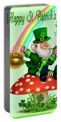 Happy St. Patrick's Day Portable Battery Charger