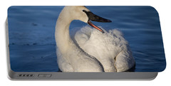 Portable Battery Charger featuring the photograph Happy Swan by Patti Deters