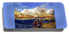 Happy Trails Portable Battery Charger by Bernadette Krupa