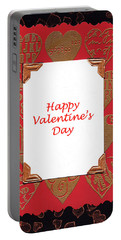 Portable Battery Charger featuring the photograph Happy Valentines Day Card by Vizual Studio