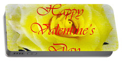 Happy Valentine's Day Portable Battery Charger by Barbie Corbett-Newmin