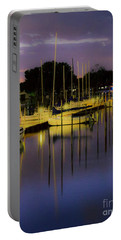 Harbor At Night Portable Battery Charger