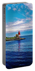 Portable Battery Charger featuring the photograph Harbor Light by Daniel Thompson