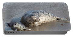 Harbor Seals In The Surf Portable Battery Charger