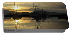 Portable Battery Charger featuring the photograph Harbor Sunset by Cathy Mahnke