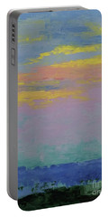 Harbor Sunset Portable Battery Charger by Gail Kent