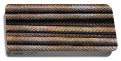 Hard Metal Rebar Pattern Portable Battery Charger