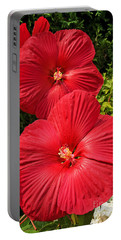 Portable Battery Charger featuring the photograph Hardy Hibiscus by Sue Smith