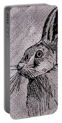 Hare On Burlap Portable Battery Charger