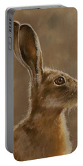 Hare Portrait I Portable Battery Charger