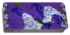 Hark The Herald Angels Sing Portable Battery Charger by Kimberly McSparran