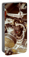 Portable Battery Charger featuring the photograph Harley Davidson Closeup by Carsten Reisinger