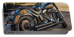 Harley Davidson Portable Battery Charger by Steve Harrington